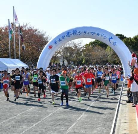 兵庫県で開催のマラソン大会で放鳩イベント
